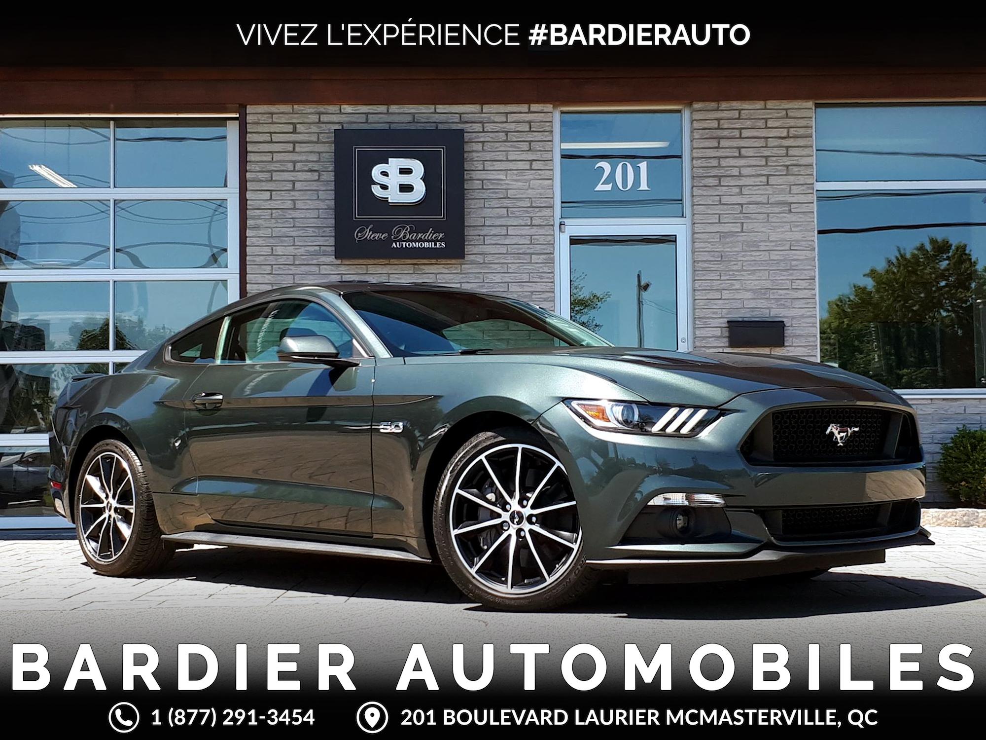 bardier automobiles inc 2016 ford mustang gt fastback 5 0 3175 km vendu 6 juillet 2018. Black Bedroom Furniture Sets. Home Design Ideas