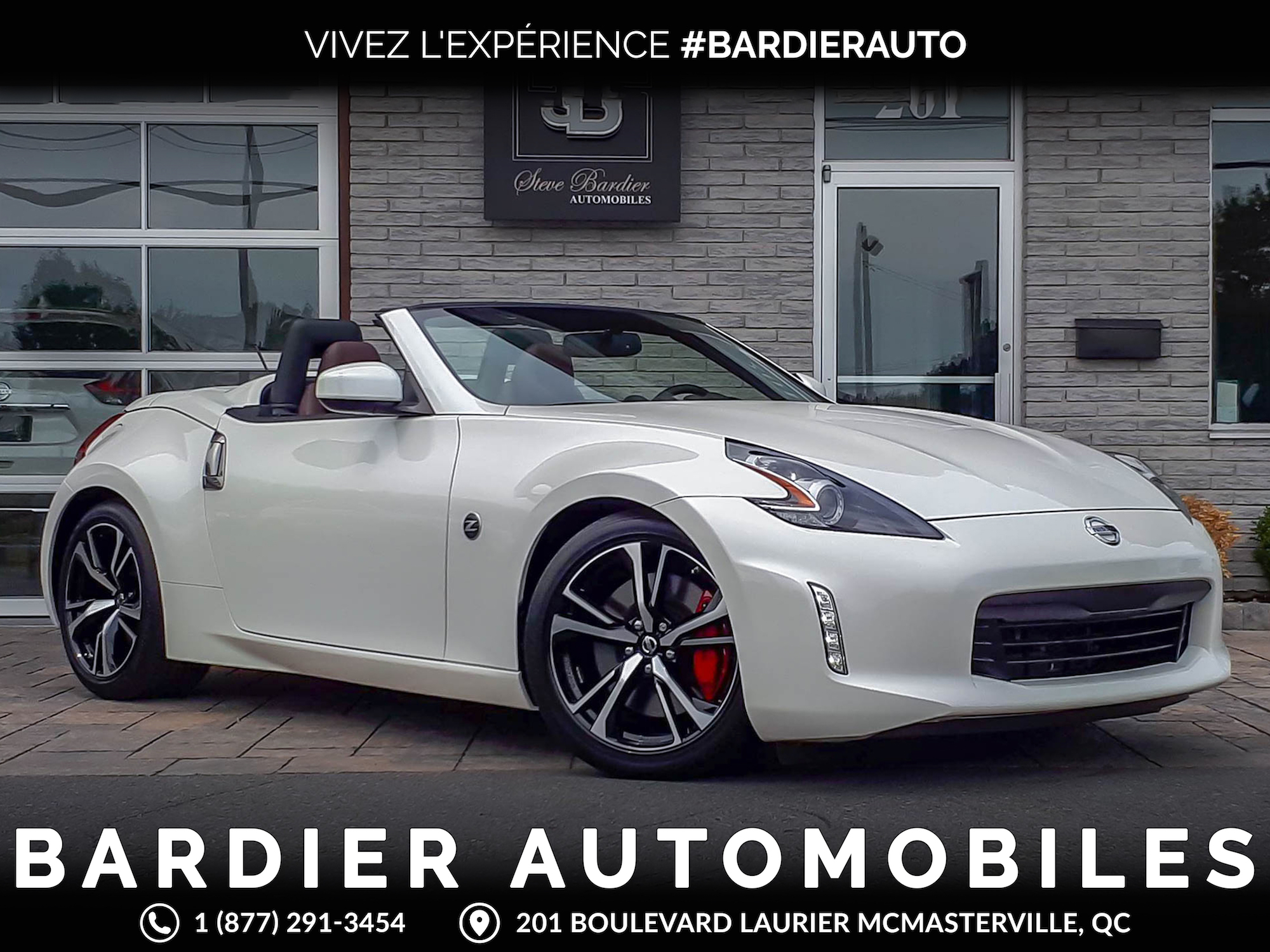2018 nissan 370z roadster convertible 625 km bardier automobiles inc. Black Bedroom Furniture Sets. Home Design Ideas