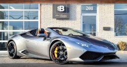 2016 Lamborghini Huracan LP610-4 Spyder 7838 KM (VENDU 22 AVRIL 2021)